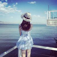 海边阳光女孩个性头像2016最新_www.aioppo.cn